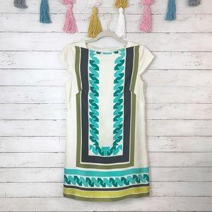Milly of New York Geometric Silk Shift Dress